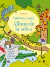 Álbum de la selva. Coloreo y pego